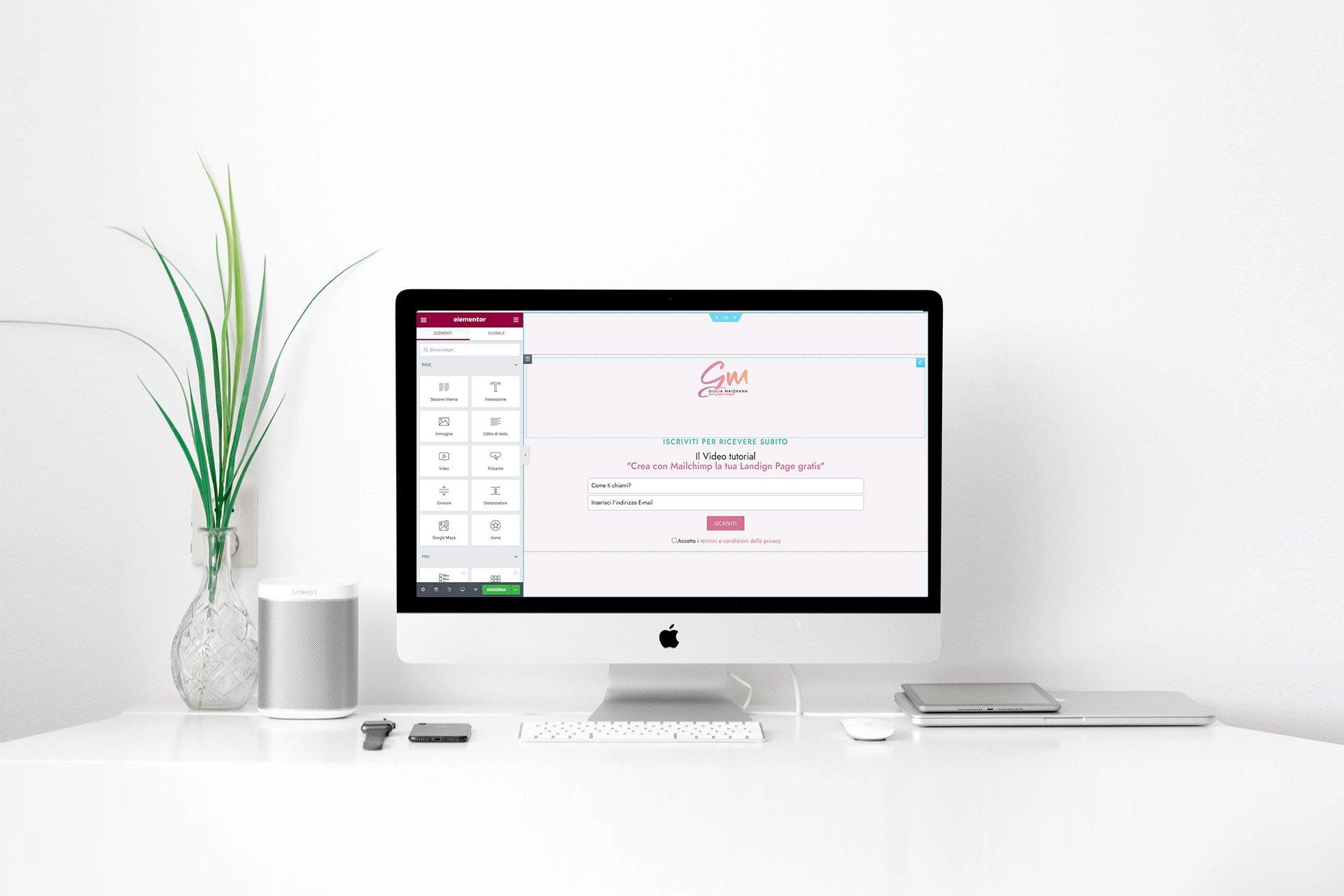 Webinar Landing page di Lead Generation con Elementor