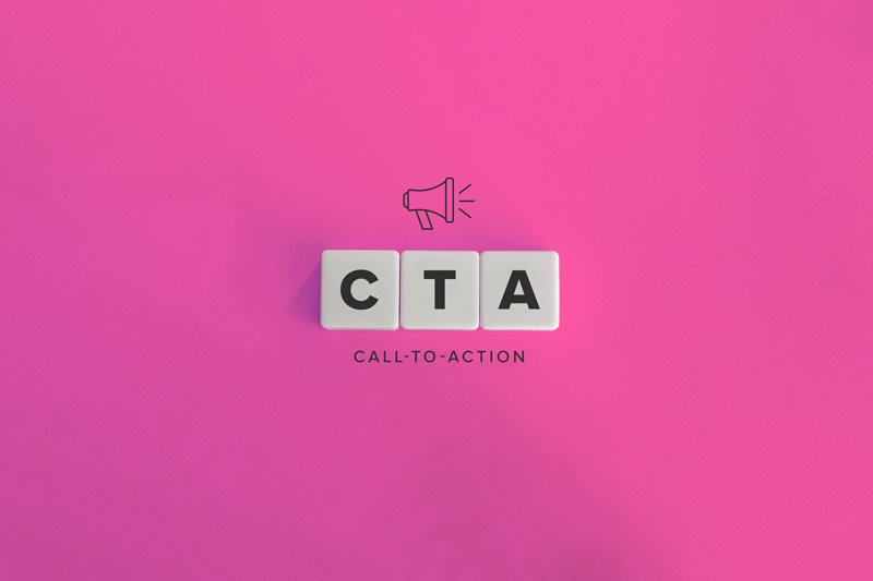 sales page - call to action